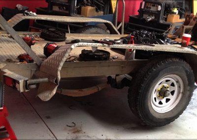 Trailer accident repair